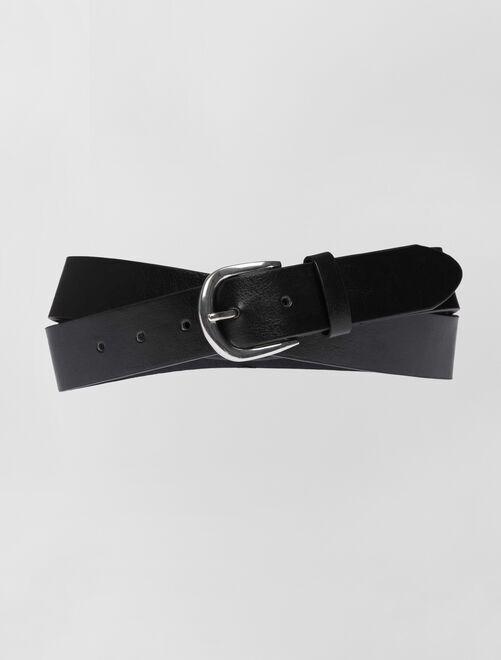Cintura basic tinta unita                             nero
