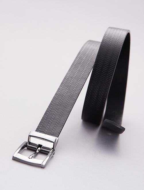 Cintura double face tinta unita                             nero