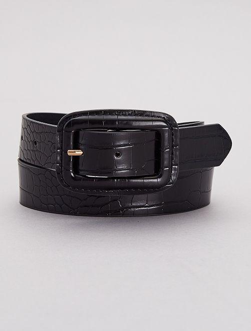 Cintura fibbia rettangolare                             nero