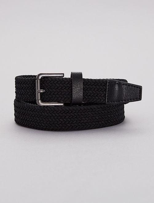 Cintura intrecciata elasticizzata                             nero