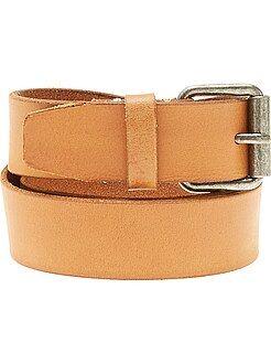 Accessori - Cintura pelle marrone - Kiabi