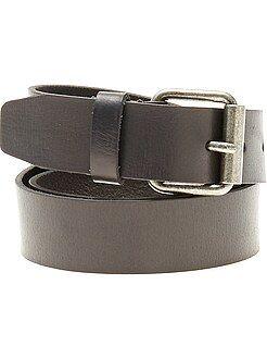 Accessori - Cintura pelle nera - Kiabi