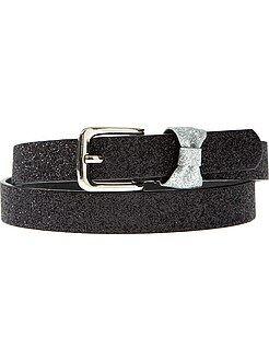 Accessori - Cintura sottile con fiocco fantasia