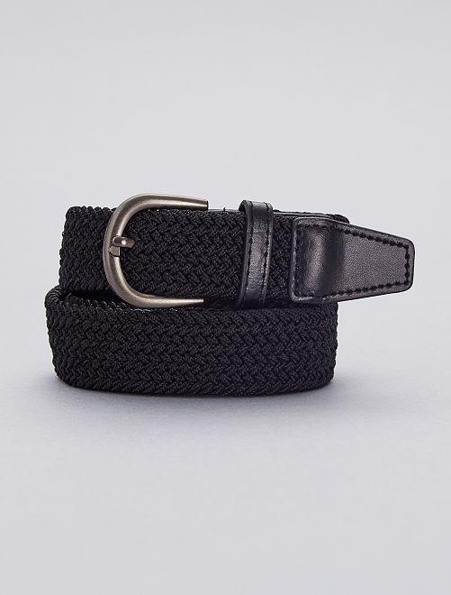 Cintura sottile intrecciata                                                     nero Infanzia bambino