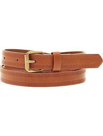 Cintura sottile motivo in rilievo - Kiabi