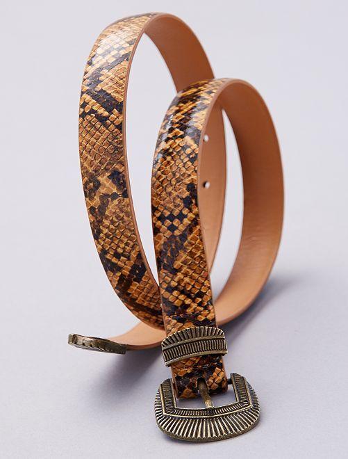 Cintura sottile motivo 'tartaruga'                             GIALLO