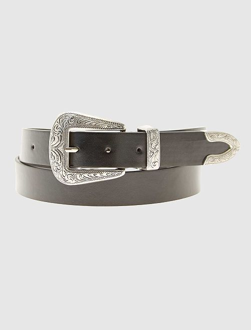 Cintura stile western ecopelle                             nero