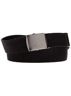 Accessori - Cintura tessuto fibbia metallo
