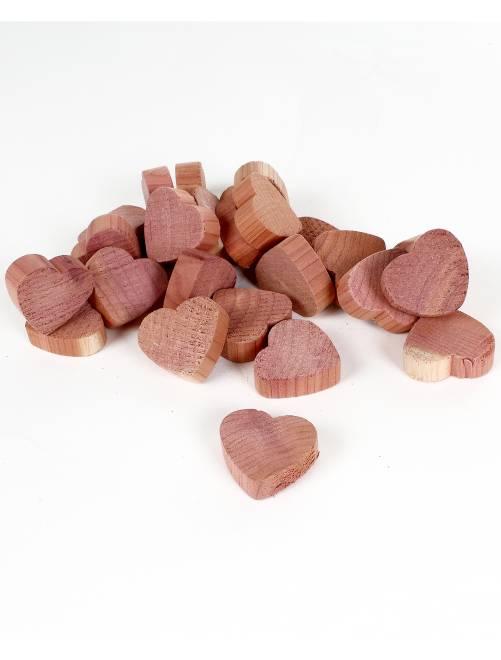 Ciottoli 'cuori' legno di cedro antitarme                             rosa