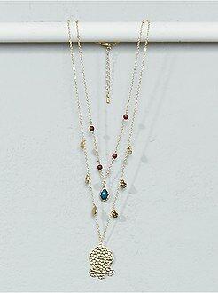 Gioielli - Collana catena, perle e pendenti