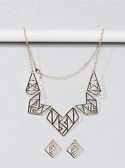 Gioielli - Collana e orecchini forma geometrica - Kiabi