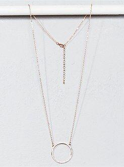 Gioielli - Collana forma rotonda con strass - Kiabi