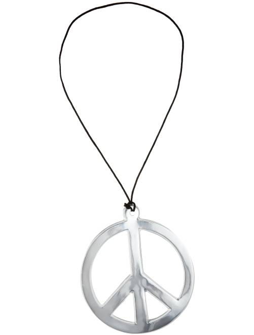 Collana hippy peace and love                                         argento