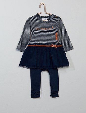 Bambina 0-36 mesi - Completino 2 pezzi abito + leggings - Kiabi