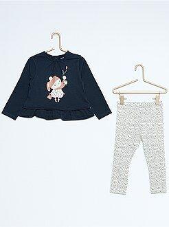 Bambina 0-36 mesi Completino 2 pezzi casacca + leggings