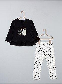 Bambina 0-36 mesi - Completino 2 pezzi casacca + leggings - Kiabi