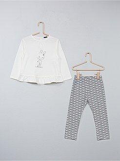 Completini, pagliaccetti - Completino 2 pezzi casacca + leggings - Kiabi