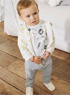 Bambino 0-36 mesi - Completino 3 pezzi felpa + maglietta + pantaloni - Kiabi