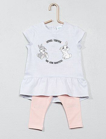 Completino abito + leggings 'Miss Bunny' - Kiabi