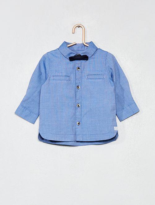 Completino camicia + farfallino staccabile                             blu Neonato