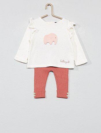 Completino felpa + leggings in maglia - Kiabi