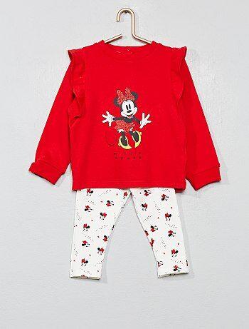 Completino felpa + leggings 'Minnie' - Kiabi