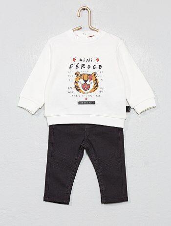 Completino felpa + pantaloni - Kiabi
