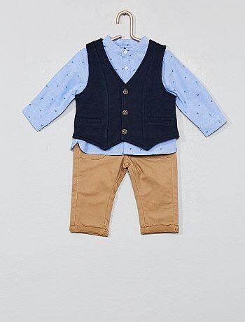 Completino gilet + camicia + pantaloni - Kiabi