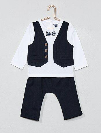 Completino maglia '2 in 1' + pantaloni - Kiabi