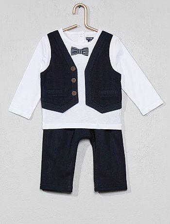 Bambino 0-36 mesi - Completino maglia effetto '2 in 1' + pantaloni - Kiabi