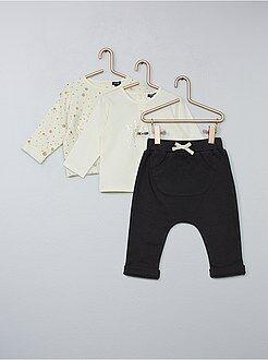 Completini, pagliaccetti - Completino maglia + felpa + pantaloni - Kiabi