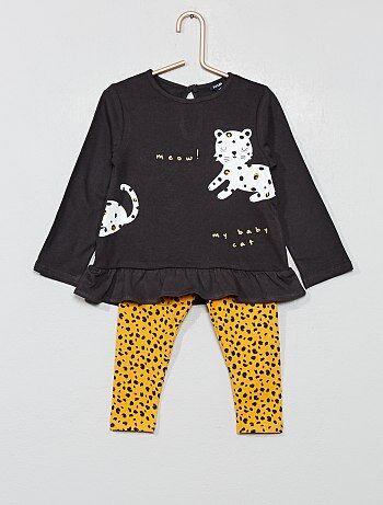Completino maglia + leggings - Kiabi