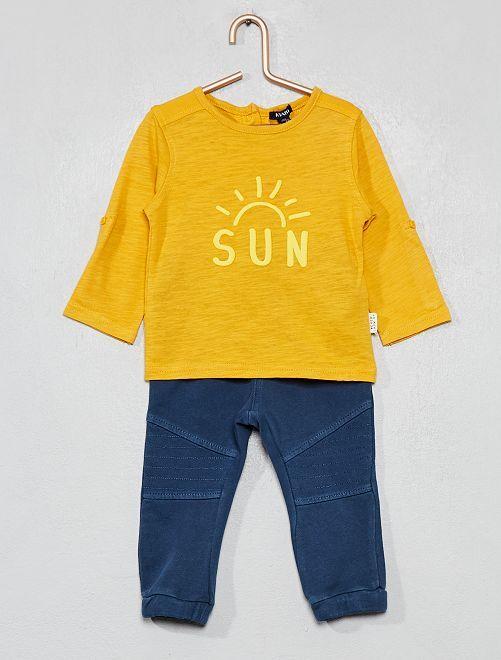 Completino maglia + pantaloni                                         GIALLO Neonato