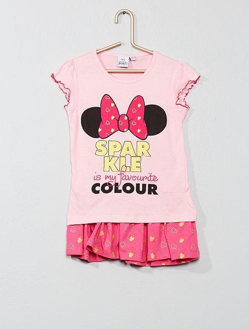 Completino maglietta + gonna 'Minnie'                                         rosa Infanzia bambina