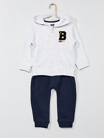 Bambino 0-36 mesi - Completino sport tessuto felpato - Kiabi