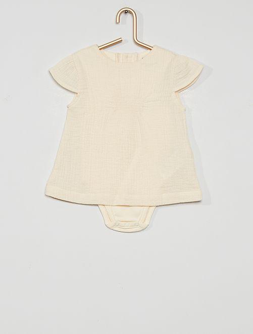 Completo blusa + body eco-sostenibile                             BIANCO