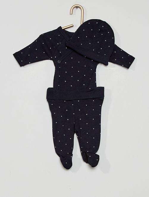 Completo body + leggings + cuffietta                                                                             BLU