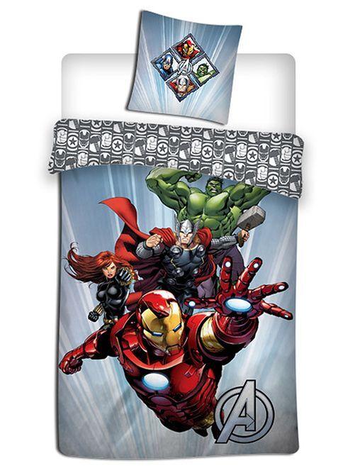 Completo letto 1 piazza 'Avengers'                             grigio/blu