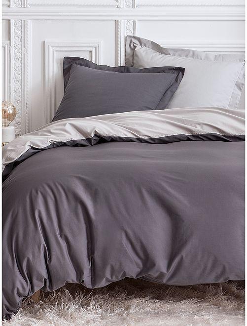 Completo letto double face 2 piazze                             GRIGIO