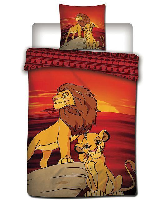 Completo letto 'Il Re leone' 1 piazza                             ROSSO