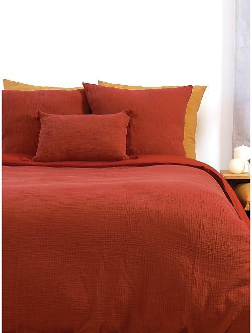 Completo letto in garza di cotone 2 piazze                             GIALLO