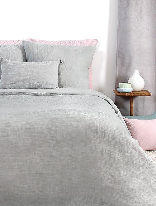 Completo letto in garza di cotone una piazza                             grigio