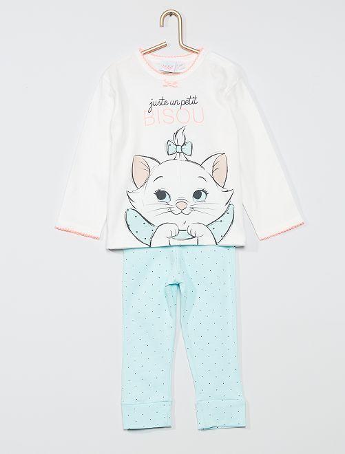 Completo pigiama 'Minou' degli 'Aristogatti'                                         BIANCO