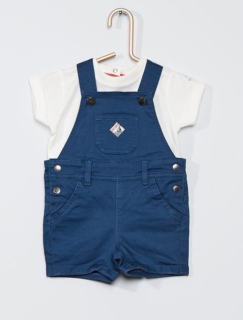 Completo salopette + t-shirt                             BLU