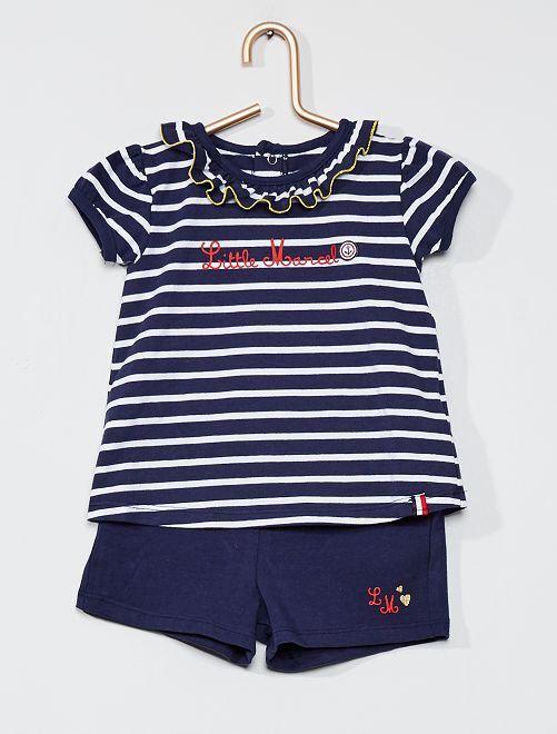 Completo t-shirt e shorts 'Little Marcel'                             BLU