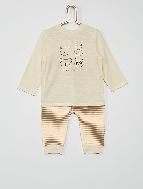 Completo t-shirt + leggings                             BIANCO