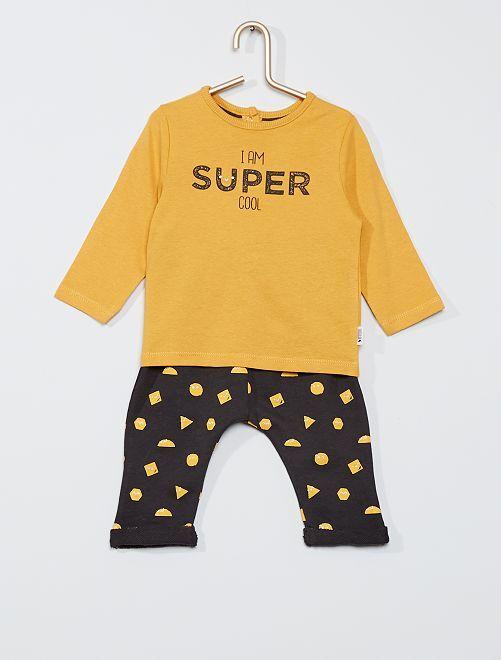 Completo t-shirt + pantaloni eco-sostenibili                     GIALLO