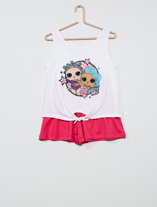 Completo t-shirt + shorts 'L.O.L. Surprise!'                                         BIANCO