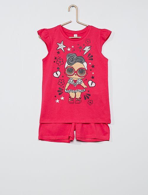 Completo t-shirt + shorts 'L.O.L. Surprise!'                                         fucsia