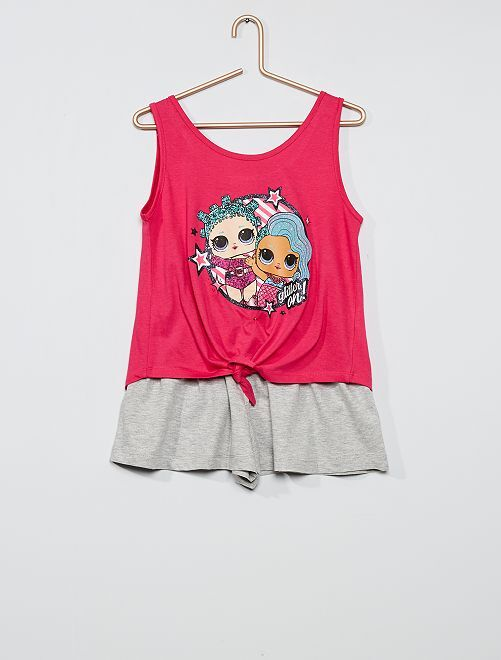 Completo t-shirt + shorts 'L.O.L. Surprise!'                                         ROSA